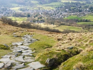 Ambleside viewed from Wansfell on the Cumbrian Centurion Walk