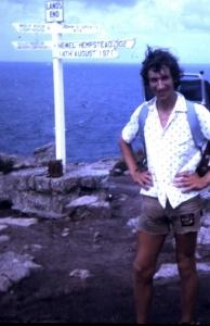 Jon Ginesi aged 17 tackling Land's End to John O'Groats