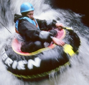 Rafting during team building with Adventure Guides UK